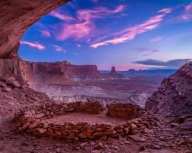 Sunset at False Kiva - Canyonlands NP, UT © jj raia