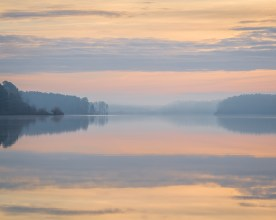Pastel Morning — Jordan Lake © jj raia