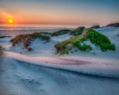 Dunes at Sunrise — Pea Island NWR, NC © jj raia