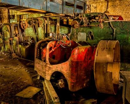 Tug and Machinery - Abandoned Textile Mille — © jj raia