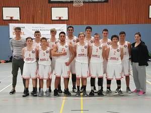 Die U16, ganz rechts Julia, Foto: SG Bergische Löwen