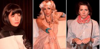 Franziska als Elaine, Bobbi Michele und Jeanette; Foto von Oliver Scheemann