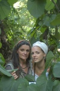 Dominique mit ihrer Mutter Aurora Lacasa