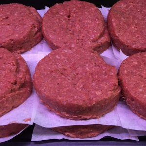 Prime Irish beef homemade 8oz steak burgers