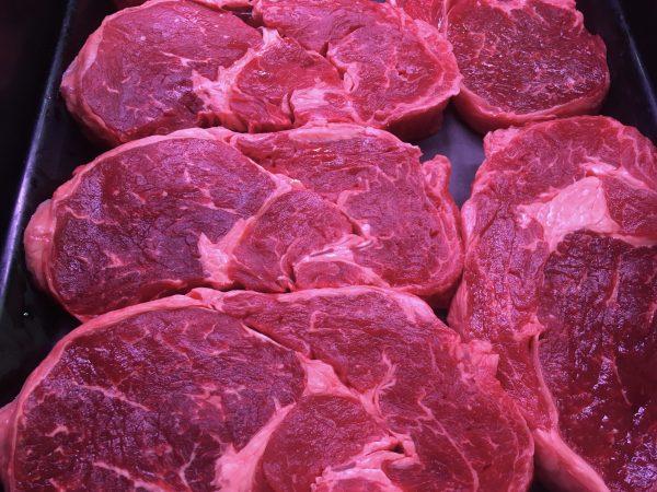 Prime Irish beef rib eye steak
