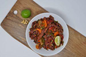 Beef Stir fry in black bean sauce