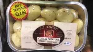Cooked Garlic Baby Potatoes