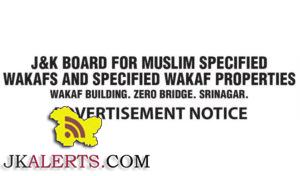wakf board kashmir jobs
