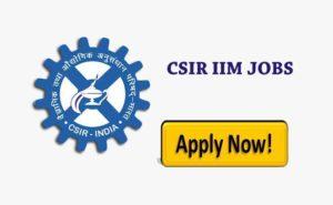 CSIR-IIIM Jobs Recruitment
