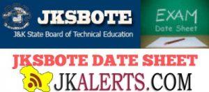 JKSBOTE Date Sheet