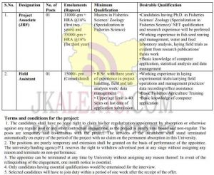 SKUAST Jammu Project Associate (JRF), Field Assistant jobs recruitment 2020.