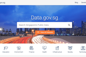 Singapore Data Portal - Digital Transformation initiative