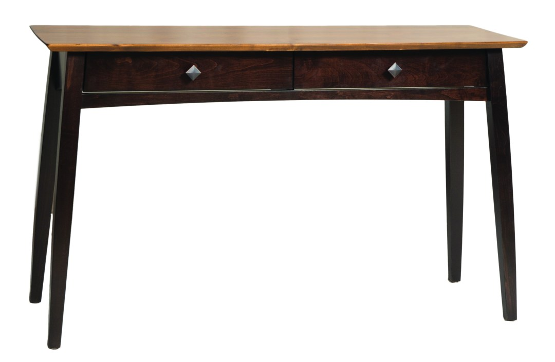 Transitional Living: Dover Sofa Table in Two-Tone Cherry (Carrington) + Maple (Briar)
