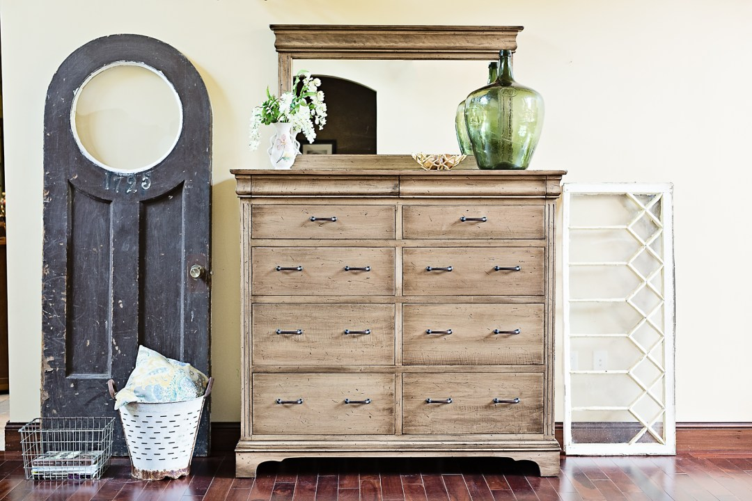 Edinburgh Livingston Tall Dresser in Maple with River Rock Stain