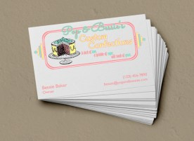 Pop and Bessies - Business Card Design