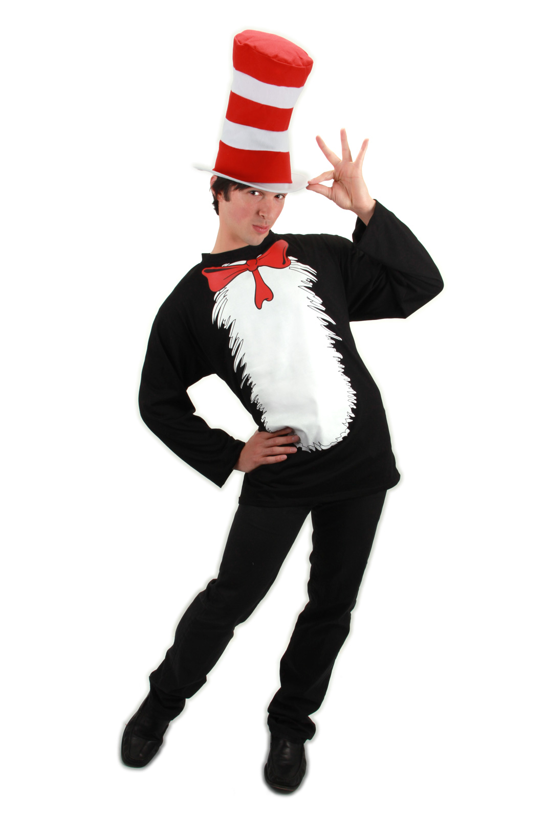 Dr Seuss Cat In The Hat Shirt Amp Hat Adult Costume S M L