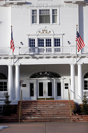 This is the front door to the famous Stanley Hotel for today's #projectlife365 #front_door theme.