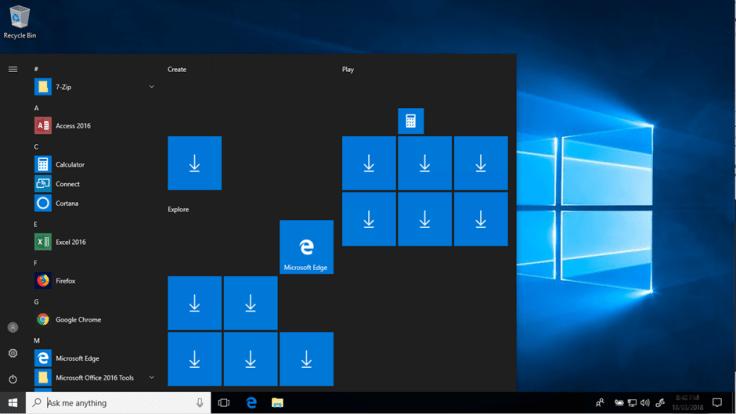 windows 10 start menu declutter the