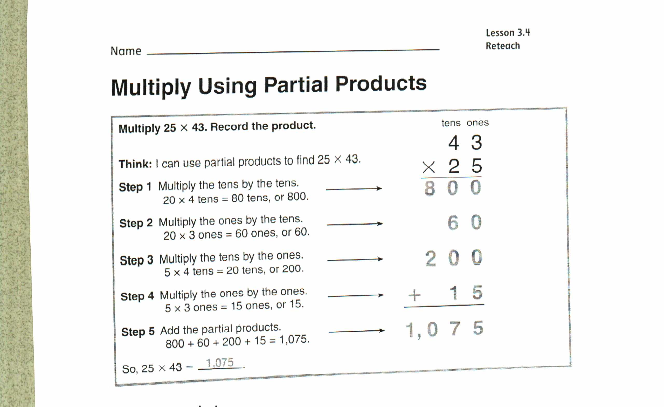 4th Grade Math Worksheets Estimating Products