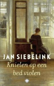 Book Cover: Knielen op een bed violen