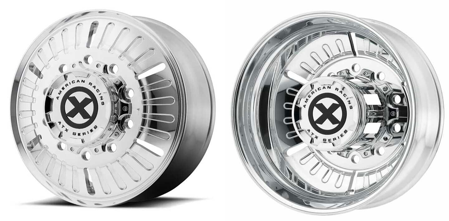 American Racing ATX Series AO403 Roulette Dually Wheels Rims Chevy Dodge Ford