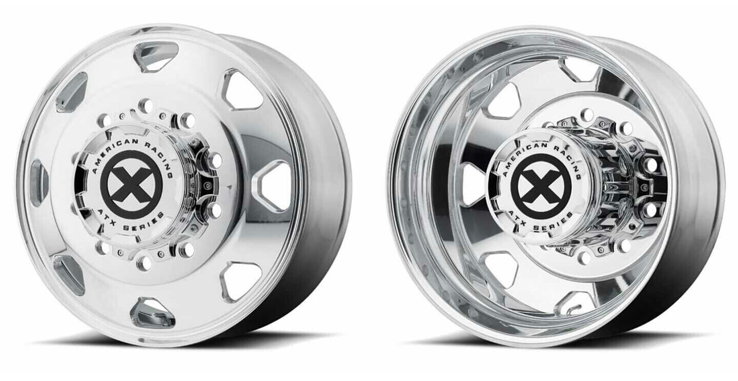 American Racing ATX Series​ Polished Octanes Dually Wheels Chevy Dodge Ford
