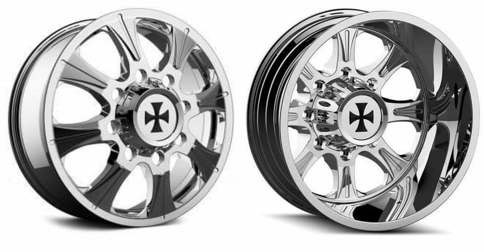 Cali Off-Road Brutal Dually Wheels Rims Chevy Dodge Ford