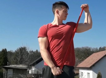 Rotator cuff-external rotation with resistance band