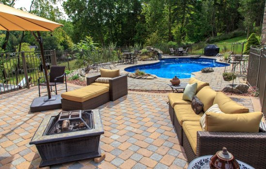 Pool Landscape and Patio