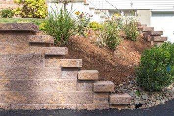 Retaining Wall & Landscape Bed