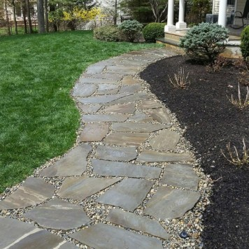 Beautiful Walkway made with Natural Stone