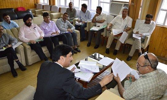 Basharat Bukhari reviews progress of Law Deptt projects