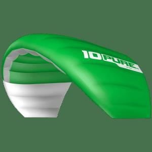 Aile idéale pour débuter le snowkite Puvre V1 vert d'Ozone Kites par JKS-kitesurf