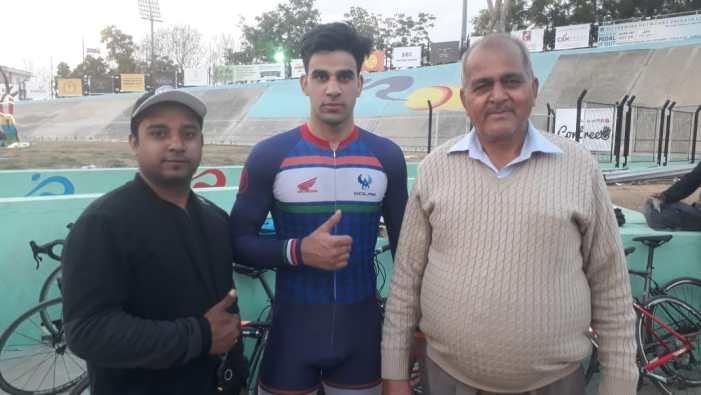 J&K Cyclist Bilal shines in 71st Track National Cycling Championship