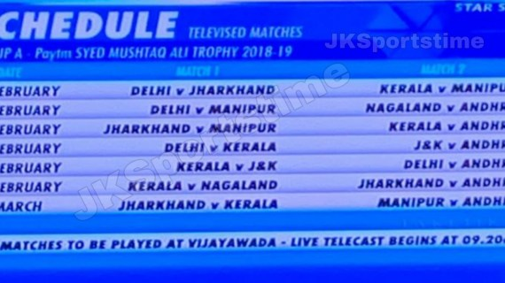 Breaking News: Syed Mushtaq Ali T20 matches to be telecast Live on Star Sports