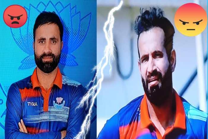 Is all well between Irfan Pathan and Parveez Rasool?