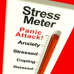 Stress Meter Showing Panic Attack From Stress Or Worry