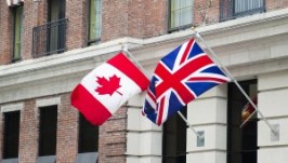 Canada Britain Flags