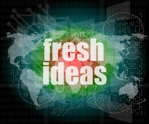 Fresh Ideas Words On Digital Touch Screen, Business Concept