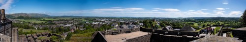 A panorama shot from the parapets