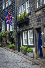 Love the brilliance of this Union Jack and how well it goes with the door and windows