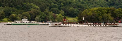 A ferry and a tour boat on Lake Windermere