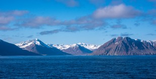 Sailing into Akureyri takes you up a long fjord that has amazing views