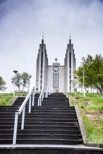 Akureyri has a big church as well but not as big as Reykjavik