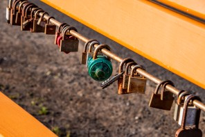 The green lock kind of drew my lens like a magnet