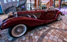 This cool car sits in the middle of the Royal Promenade