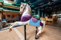 A great exhibit on how carousel horses are made