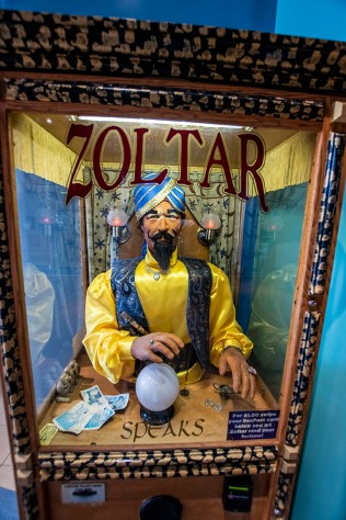 On the Boardwalk, there's a Zoltar Machine