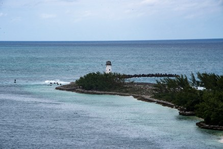 Small lighthouse at the end of the protecting jetty