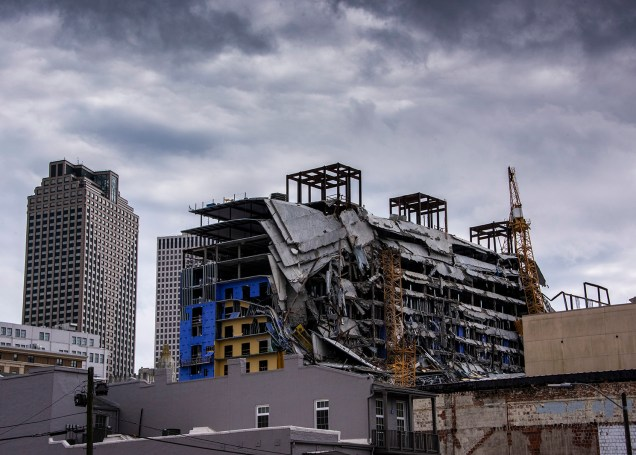 This is the Hard Rock Hotel that collapsed while under construction on October 13. Three people were killed (bodies remain in the rubble) and it will have to be demolished.